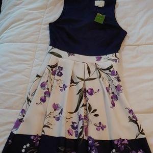 COPY - Kate Spade NWT Night Rose Crepe dress size…